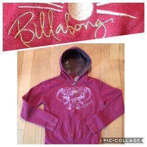 Billabong Full Zip Hoodie - Salmon Pink - medium